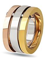 Недорогие -Жен. Классические кольца Обручальное кольцо Простой Elegant Титановая сталь Бижутерия Назначение Свадьба Для вечеринок