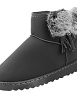 cheap -Women's Shoes Fleece Winter Snow Boots Boots Round Toe For Outdoor Pink Gray Black