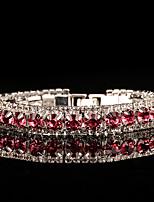 Жен. Браслеты-цепочки и звенья Цирконий Стразы Винтаж Elegant Круглый Бижутерия Назначение Свадьба Для вечеринок