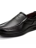 Homme Chaussures PU de microfibre synthétique Printemps Automne Confort Mocassins et Chaussons+D6148 Pour Décontracté Noir