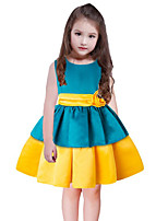Girl's Striped Dress,Cotton Polyester Sleeveless