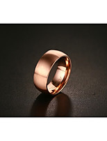 Men's Band Rings Vintage Elegant Titanium Steel Rose Gold Plated Circle Jewelry For Wedding Party