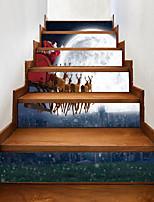 Navidad Animal Paisaje Pegatinas de pared Carcasa Protectora Calcomanías de Aviones para Pared Calcomanías 3D para Pared Calcomanías