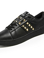 cheap -Men's Shoes PU Spring Fall Light Soles Sneakers Rivet For Casual Black White