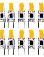 10pcs 3W LED Bi-pin Lights 1 leds COB Dimmable Warm White Cold White 200-300lm 2800-3500/6000-6500K AC 110-130V