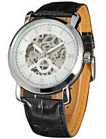 Недорогие -WINNER Муж. Повседневные часы Модные часы Наручные часы С автоподзаводом Кожа Группа На каждый день Cool