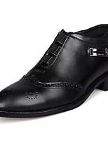 Для мужчин обувь Дерматин Полиуретан Все сезоны Удобная обувь Туфли на шнуровке Назначение Повседневные Черный Коричневый