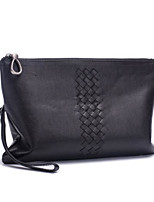 Men Bags PU Clutch Zipper for Casual All Season Black