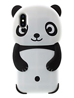 baratos -Capinha Para Apple iPhone X / iPhone 8 Plus Estampada Capa traseira Panda Macia Silicone para iPhone X / iPhone 8 Plus / iPhone 7 Plus