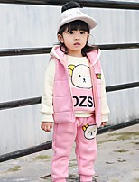 Girls' printing Sets,Cotton Winter Long Sleeves Clothing Set