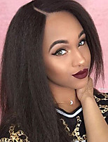 Lace Front Wigs Yaki Straight Unprocessed Brazilian Human Hair Wigs  Glueless Lace Front Wigs 8-30Inch  Virgin Hair Wigs With Baby Hair