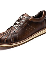 Men's Shoes Cowhide Spring Fall Comfort Oxfords For Casual Brown Gray Black