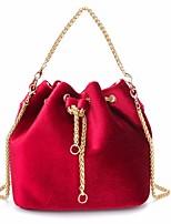 Donna Sacchetti Autunno Inverno Velluto Tote Tasche per Casual Nero Rosso Verde scuro Grigio chiaro