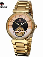 cheap -FORSINING Men's Fashion Watch Dress Watch Wrist watch Automatic self-winding Hollow Engraving Stainless Steel Band Luxury Vintage Casual