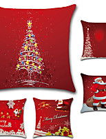 cheap -5 pcs Cotton/Linen Pillow Case Pillow Cover,Christmas Fashion Novelty Traditional/Classic Euro Retro Christmas