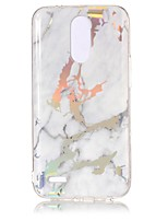 cheap -Case For LG K8 (2017) K10 (2017) Plating IMD Back Cover Marble Soft TPU for LG K10 (2017) LG K8 (2017) LG G6