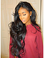 cheap -Virgin Hair Wig Long Body Wave 130% Density Natural Color Lace Front Wig with Baby Hair for Black Women
