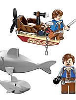 abordables -Bloques de Construcción Bote Juguetes Barco Shark Animales Animal Piratas Animal Chico 45 Piezas