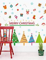 Natal Adesivos de Parede Decalques Autocolantes de Parede Decorativos,Material à Prova-de-Água Material Decoração para casa Decalque