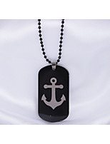 Men's Pendant Necklaces Anchor Stainless Steel Hip-Hop Personalized Jewelry For Daily Casual