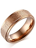 Women's Band Rings Lovely Elegant Rose Gold Titanium Circle Jewelry For Wedding Party Daily