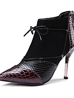Недорогие -Жен. Обувь Материал на заказ клиента Весна Осень Модная обувь Ботинки Блочная пятка Заостренный носок Ботинки для Свадьба Для вечеринки /