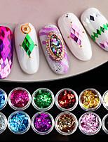 economico -glitter per unghie art deco / retro glitter in polvere 0,003 kg / scatola