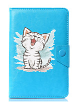 Custodia universale per custodia in pelle per gatto in cartone da 7 pollici, 8 pollici, 9 pollici, tablet pc da 10 pollici