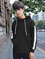cheap -Men's Daily Casual Hoodie Striped Cotton