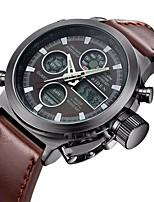 cheap -Men's Casual Watch Fashion Watch Wrist watch Japanese Quartz Calendar / date / day Casual Watch Leather Band Casual Elegant Brown