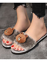 Women's Shoes Flocking Spring Fall Comfort Slippers & Flip-Flops For Casual Pink Red Gray Black