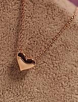 Pendentif de femmes colliers coeur alliage amour bijoux de mode pour la fête quotidienne