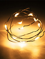 1PCS HKV® 1M 10 LED 2 x AA Battery Copper Wire Fairy String Light Christmas Wedding Party Decoration LED String Lights  (No batteries)