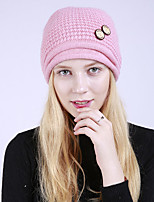 cheap -Women's Acrylic Roman Knit Floppy Hat,Vintage Cute Casual Floral Winter Braided Khaki Wine Fuchsia Beige Blushing Pink
