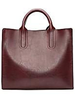 Women Bags All Season PU Tote Zipper for Black Red Brown Wine