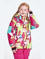 Mädchen Skijacke Wasserdicht warm halten tragbar Atmungsaktivität Winddicht Skifahren Ski