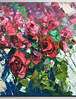 Pintados à mão Floral/Botânico Rústico Modern 1 Painel Tela Pintura a Óleo For Decoração para casa