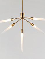 europa do norte poste lustre moderno 5 cabeças de iluminação pingente de acrílico sala de estar sala de jantar g4 base de lâmpada