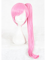 cheap -24inch Long Straight Light Pink Urahara Maruno Misa Wig Synthetic Anime Hair Cosplay WigOne Ponytail CS-347B