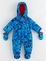 Baby Pattern One-Pieces,Cotton Winter Long Sleeves Blue