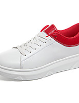 cheap -Men's Shoes PU Spring Fall Comfort Sneakers for Outdoor Black Silver Red