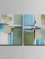 Hand-Painted Abstract Horizontal,Simple Two Panels Canvas Oil Painting For Home Decoration