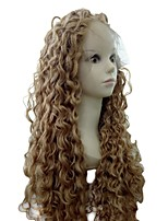 cheap -Women Human Hair Lace Wig Brazilian Human Hair Lace Front 130% Density Kinky Curly Wig Black/Medium Auburn Dark Auburn Medium Auburn