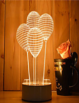 1 Set Of Decorative Acrylic 3d Night Light LED Bedroom Lamp Mood Lamp, Hand Scanning, Dimming, Color Change, 3W, Balloon