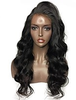cheap -Brazilian Remy Pre Plucked Lace Front Human Hair Body Wave With Baby Hair Natural Hairline