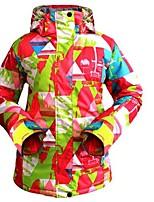 Women's Ski Jacket Warm Ventilation Windproof Wearable water-resistant Ski / Snowboard Multisport Snowshoeing Winter Sports Polyester