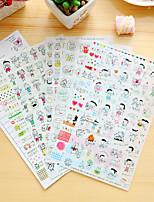 cheap -6 Pcs/Set Children Diary Sticker Phone Sticker Scrapbook Stickers