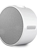 Music Alarm Clock Bluetooth Speaker Bluetooth 4.1 Micro USB Bookshelf Speaker White