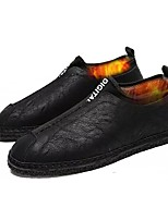 Men's Shoes Synthetic Microfiber PU PU Leatherette Winter Comfort Loafers & Slip-Ons For Casual Gray Black
