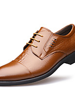 Men's Shoes Patent Leather Winter Fall Formal Shoes Oxfords for Casual Party & Evening Black Brown